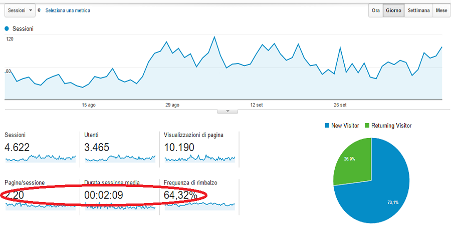 Google Analytics: vista principale